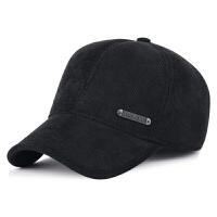 秋冬季男士休闲棒球帽灯芯绒中老年户外护耳加厚保暖鸭舌帽子
