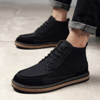 英伦男靴沙漠靴大头马丁靴男短靴潮流军靴皮靴复古切尔西靴男靴子