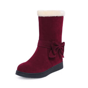 O'SHELL法国欧希尔新品冬季119-4871韩版磨砂绒面平跟女亲子雪地靴