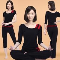 瑜伽服套装女夏新款性感莫代尔宽松专业运动瑜珈服初学者