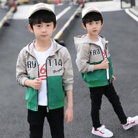 时尚中大童休闲运动夹克10-15岁洋气韩版潮衣男童春秋装