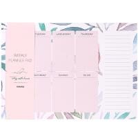 七彩飞鸟系列可撕便签本桌面计划备忘录周计划日程本包邮