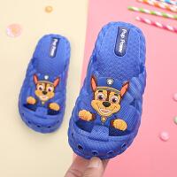 儿童拖鞋夏男室内家用软底防滑男宝宝拖鞋包头1-3岁婴幼儿