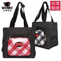 【台湾进口】unme台湾防水手提饭盒袋子小学生保温便当包带饭装午餐帆布拎包大号男女包