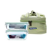三光云彩(GLASSLOCK) 玻璃保鲜盒 饭盒 2件套附包 GL18-E XA05