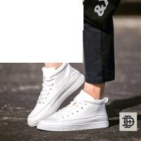 男士高帮板鞋高帮潮流运动白色休闲小白鞋男鞋子运动鞋学生鞋