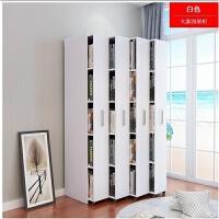 简约现代组合抽屉式移动抽拉隐藏书柜小型书柜实木木质书架定制 高180长100.2深48(五层四抽)