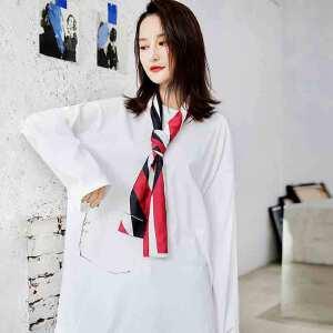 七格格大t恤白色新款女装宽松韩版学生ins潮中长款帅气下衣失踪上衣