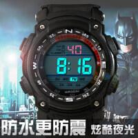男士手表跑步多功能学生运动电子表 户外防水夜光男表 新款潮流防震手表