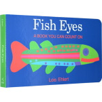 Fish Eyes 英文原版 我想变成彩色鱼 低幼数学早教启蒙绘本Color zoo同作者 趣味洞洞书