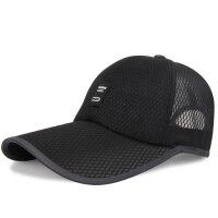 帽子男夏天韩版棒球帽休闲鸭舌帽遮阳网帽透气太阳帽 均码可调节(54-62)