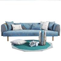 雪尼尔沙发垫四季通用防滑坐垫北欧布艺简约现代沙发套罩巾