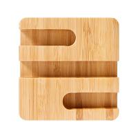办公室桌面收纳盒创意手机托名片架座笔座笔插竹木质简约大方