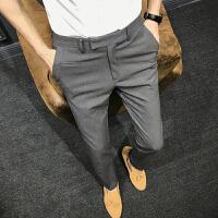 休闲裤男潮修身小脚长裤韩版青年商务西装裤男正装百搭英伦小西裤
