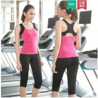 新款运动背心短裤瑜伽服两件套韩版宽松速干专业健身服女