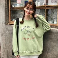 卫衣 女士卡通狐狸圆领卫衣2020冬季韩版女式大码宽松套头衫学生可爱印花上衣