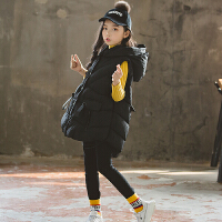 女童马甲秋冬装5-11岁羽绒棉中大童冬款儿童马夹外套