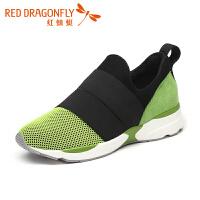 红蜻蜓运动鞋秋冬透气休闲鞋女鞋网面跑步单鞋女鞋潮