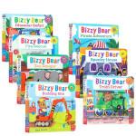 顺丰发货 英文原版 很忙碌的小熊系列7册套装 0-3-6岁幼儿儿童纸板活动机关操作书 纸板玩具书亲子绘本趣味读物Biz
