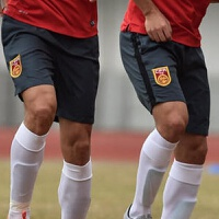 中国国家队足球训练裤国足运动裤跑步健身组队高品质短裤 16灰色短裤-国足 纯刺绣队徽
