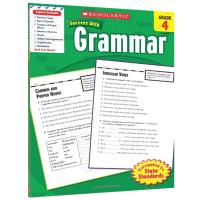 美国小学四年级英语语法练习册 英文原版 Scholastic Success with Grammar 4 英文版学乐进