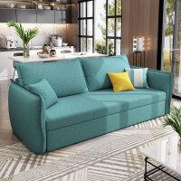 折叠沙发床两用客厅北欧小户型多功能三人单人双人 出租房沙发床 设计款1.6*1.9米 高密度海棉+3E环保椰棕 1.8