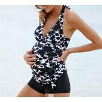 孕妇泳衣孕妇温泉游泳衣怀孕分体平角舒适欧美游泳衣
