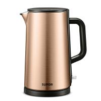 苏泊尔(SUPOR)电水壶电热水壶304不锈钢 1.5L电茶壶电热壶电烧水壶 进口温控金属色SW-15S08A