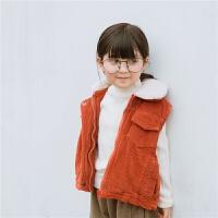 女童加厚保暖�R甲女����背心小童男童�R�A��和獯╉n版潮春秋冬款