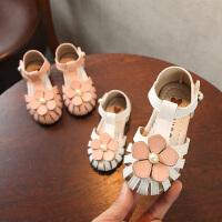 夏季女童鞋子公主鞋透气镂空儿童包头凉鞋女童花朵宝宝鞋