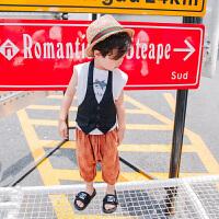 夏季新款儿童小吊带背心宝宝低胸挂脖马夹中小童百搭吊脖马甲时尚