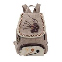 韩版复古文艺范女士帆布双肩包民族风休闲旅行旅游迷你小背包可爱