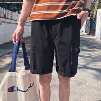 哲曼琪 短裤男韩版宽松工装五分裤学生夏季港风口袋休闲沙滩裤潮