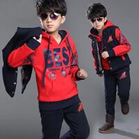 男童秋冬装运动套装潮12男孩15岁中大童卫衣三件套