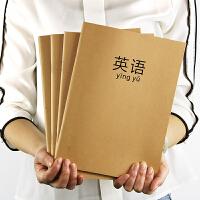 日韩创意文具初高中科目本课堂笔记本复古