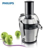 飞利浦 (Philips) 榨汁机 HR1876 家用电动水果汁机 1000瓦大口径 高出汁率 不锈钢色