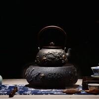铁壶连年有鱼铸铁壶仿日本老铁壶南部生铁壶茶壶煮水壶电陶炉茶炉铸铁电茶炉茶具光波电磁炉家用 +电陶炉