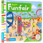 Busy Funfair 系列纸板书 英文原版绘本 繁忙游乐场场 活动操作书