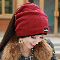 帽子女秋冬时尚韩版潮百搭女士冬天包头堆堆帽女式冬季针织毛线帽