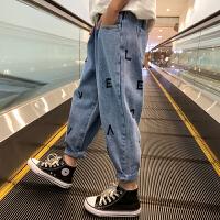 女童牛仔裤春装大童春秋外穿宽松老爹裤儿童休闲裤子