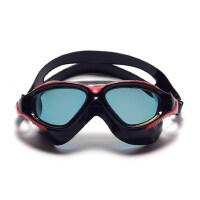 户外平光泳镜大框大视野防水防雾男女士游泳装备电镀膜游泳眼镜