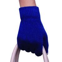 户外开车触摸屏男五指手套羊绒触屏手套女情侣保暖毛线针织