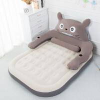 龙猫懒人沙发充气床垫可爱卡通榻榻米床垫单人双人家用卧室气垫床新品 龙猫灰2.0*1.5【标配】 2*1.5米大床