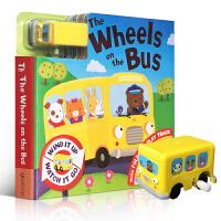 Busy Day Board - The Wheels On The Bus 公交车 儿童轨道车玩具纸板书 英文原版进口童书 幼儿启蒙认知趣味亲子读物