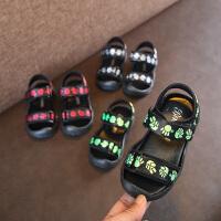 夏季女童运动凉鞋男童沙滩鞋涉水鞋软底宝宝潮鞋