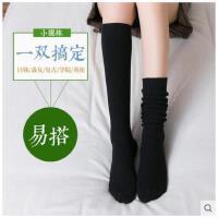 彩色袜子女中长款韩国高腰糖果色堆堆袜秋冬款日系韩版外穿小腿袜