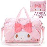 美乐蒂女旅行袋kt猫行李手提包大号斜跨可套拉杆箱行李包折叠防水 粉红色 美乐蒂款 大