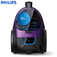 飞利浦(PHILIPS) 吸尘器家用手持卧室大功率无尘袋小型静音除螨吸尘器 金属紫FC9515/81-1600w配宠物