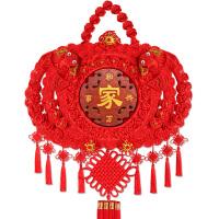 家居挂饰高档中国节中国结挂件客厅大号壁挂玄关桃木福字