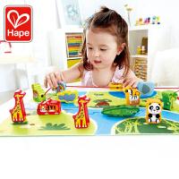 Hape丛林穿绳拼图2-6岁儿童益智串珠玩具精细动作婴幼玩具木制玩具E1021